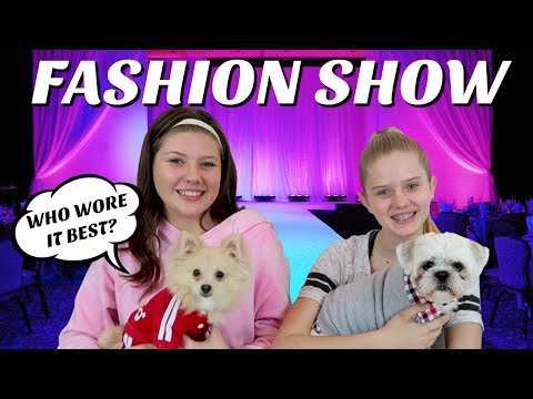 connectYoutube - PUPPY FASHION SHOW CHALLENGE || Taylor and Vanessa