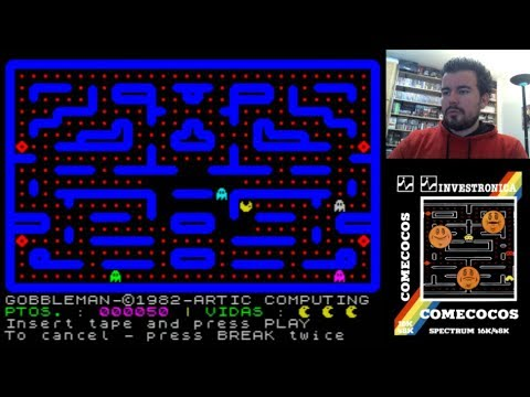 COMECOCOS (Investrónica) - La adaptación de Pac-Man al ZX Spectrum    Gameplay en Español