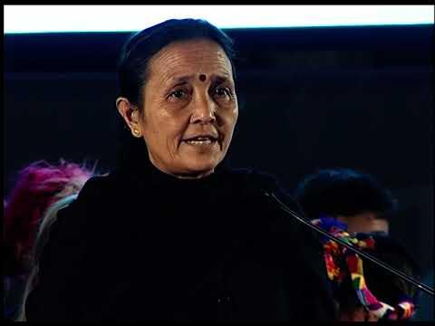 Maiti Nepal and Anuradha Koirala at the World's Children's Prize Ceremony 2002