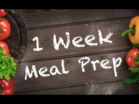 Best 1 Week Meal Prep (FAST EASY LUNCHES!!)