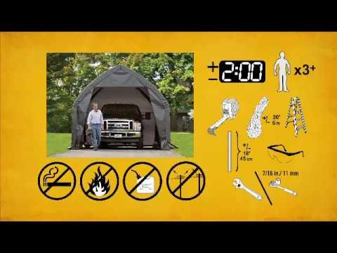 ShelterLogic Instant Garage for SUV/Truck - 20ft.L x 13ft.W x 12ft.H, Model# 62693