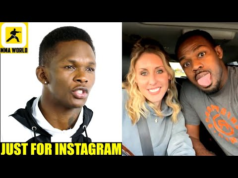 Israel Adesanya react to Jon Jones posting video with Fiancée after getting arrested for alleged DV