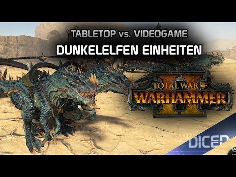 Total War: Warhammer 2 | Tabletop vs. Videospiel | Dunkelelfen Einheiten | DICED