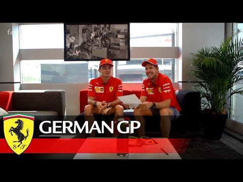 "German GP - Sprechen Sie F1"" A very strict Professor Seb testing Charles"