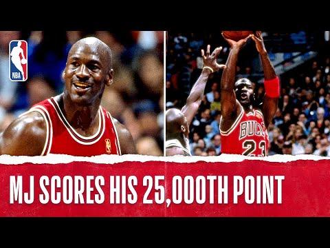 Michael Jordan Scores His 25,000th Point | Bulls vs Spurs | 11.30.1996