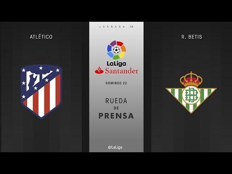 Rueda de prensa Atlético vs R. Betis