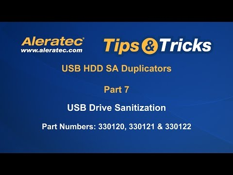 How to Sanitize and Overwrite USB HDD Copy Tower SA Duplicator - Aleratec Tips & Tricks Part 7