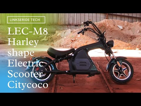 M8 Fat-tire Electric Scooter Citycoco Scooter Harley-shaped Citycoco Chopper Review Escooter Price