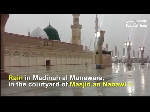 Rain in Madinah al Munawara, in the courtyard of Masjid e Nabawi ﷺ | Sam Team of TIENS