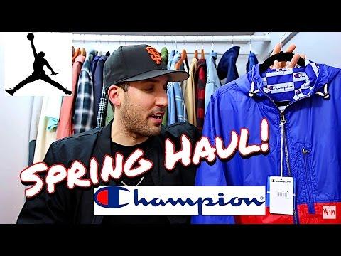SPRING CLOTHING & SNEAKER HAUL! CHAMPION - JORDANS - AIME LEON DORE - MEN'S FASHION