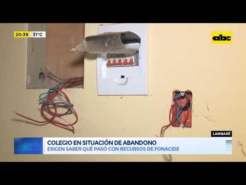 Colegio de Lambaré, en situación de abandono