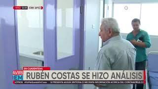 Gobernador Costas a la espera de la prueba de Covid-19, se mantiene aislado