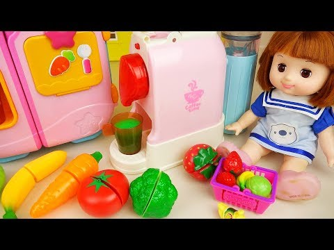 Baby Doll Caramel and fruit juice maker and kitchen toys baby doli play