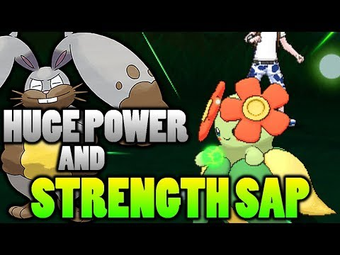 connectYoutube - Does Huge Power Double the HP Recovered With Strength Sap In Pokemon Ultra Sun and Moon?