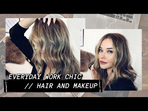 chic but easy // everyday makeup and hair for work