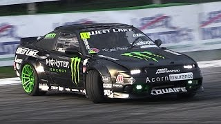 Nissan 200SX Drift Car with an Amazing Turbo Flutter Noise – Show at Monza Rally 2015