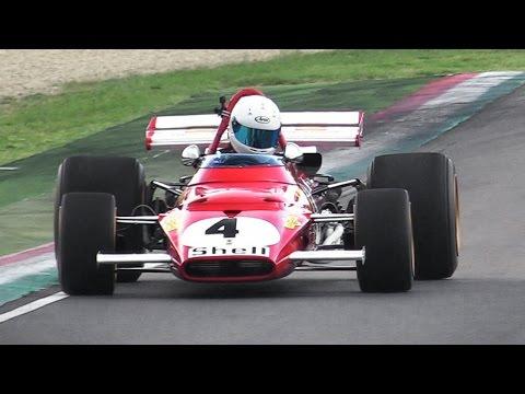 1970 Ferrari 312B F1 Car GREAT Sound – Accelerations  Fly Bys On Track!!