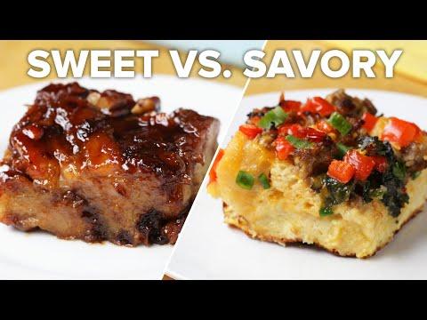 Breakfast Bake 2 Ways: Sweet Vs. Savory ? Tasty