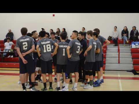 Boys Varsity Volleyball defeats Mills in three straight sets