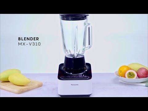 Healthy Everyday เครื่องปั่น MX-V310 (น้ำแข็งใสพร้อมผลไม้เขตร้อนและน้ำปั่นสีม่วงสดใส)