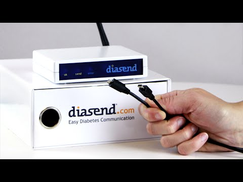 diasend® Clinic - Uploading device using a USB cable