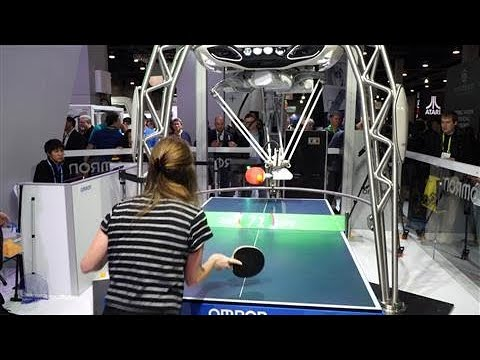 Ping Pong Robot Teases CES Crowds