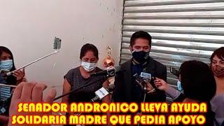 SENADOR ANDRONICO PLANTEA INVERTIR EL50% DE SU SUELDO PARA APOYAR AL PUEBLO..