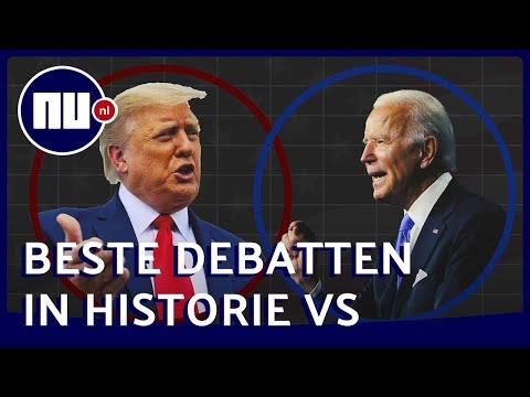 Huiswerk voor Trump en Biden: Legendarische verkiezingsdebatten | NU.nl
