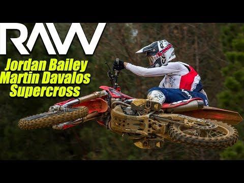 Martin Davalos and Jordan Bailey Daytona Supercross Prep RAW - Motocross Action Magazine