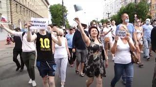 Des manifestations anti-Kremlin agitent l'Extrême-Orient russe