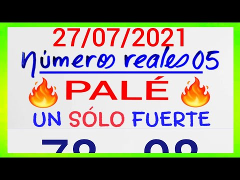 NÚMEROS PARA HOY 27/07/21 DE JULIO PARA TODAS LAS LOTERÍAS....!! Números reales 05 para hoy....!!
