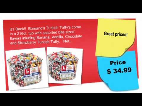 Bonomos Turkish Taffy Tub 216ct.