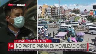 Fejuve de El Alto anuncia que no participará en movilizaciones de la Central Obrera