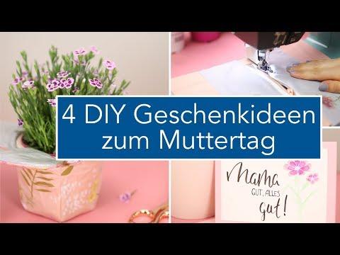 4 DIY Geschenkideen zum Muttertag: nähen, basteln und Handlettering