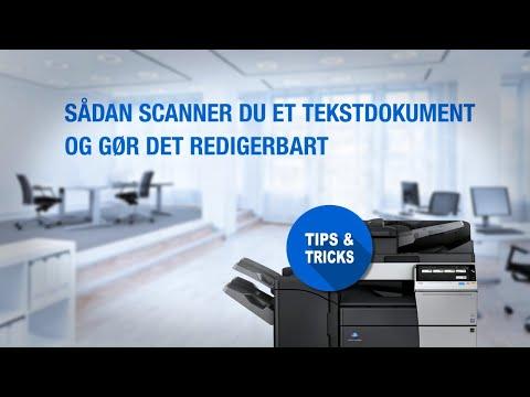Sådan scanner du et tekstdokument og gør det redigerbart