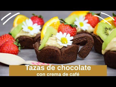 TAZAS DE CHOCOLATE con crema de café
