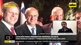 Citan a Horacio Cartes para presentar defensa escrita al Brasil