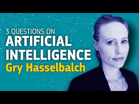 3 questions on Artificial Intelligence - Gry Hasselbalch photo