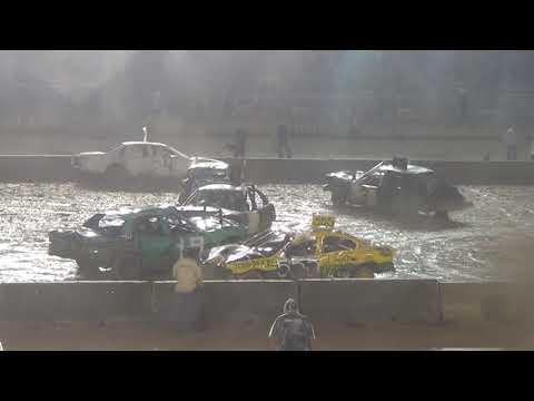 Monroe county fair 2018 Demolition Derby Modified  Heat 4 (9pm show)