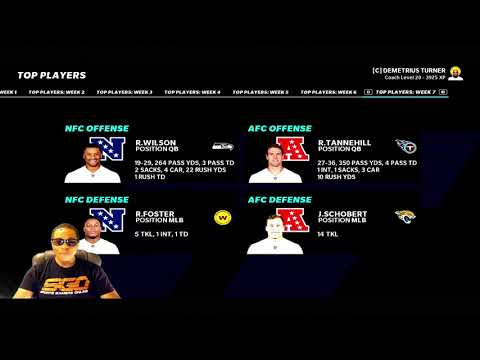 Madden NFL21 Franchise Mode   The NFC & AFC Players Of The Week