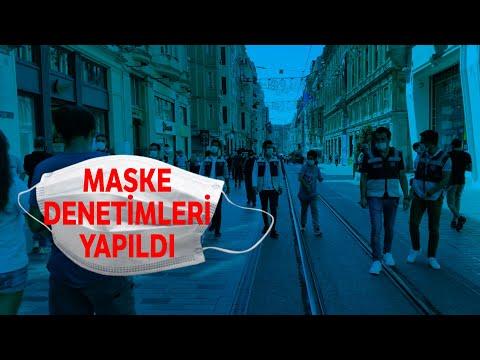 İstiklal Caddesinde Maske Denetimi