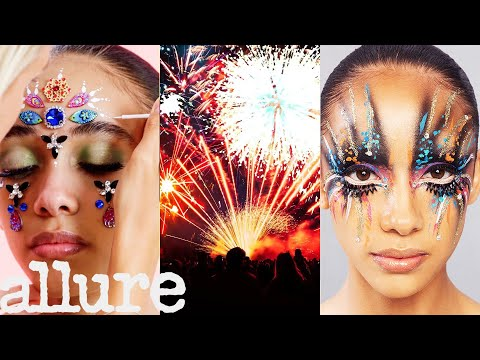 3 Makeup Artists Turn a Model Into a Living Firework | Allure
