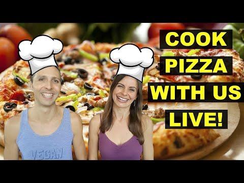 LIVE STREAM COOKING SHOW/ DEMO 🤤 VEGAN PIZZA!!