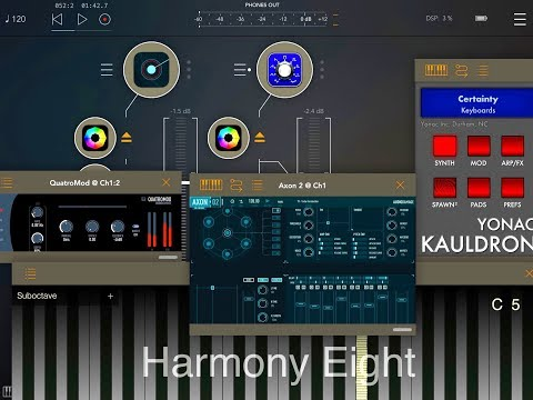 AUM Set Up With HARMONY Eight - Kauldron - AXON 2 - QuatroMod - iPad Demo