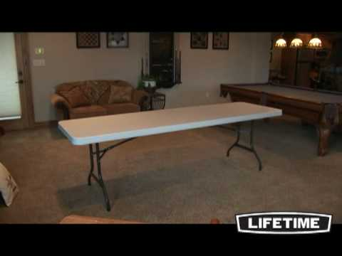 8 Foot Commercial Grade Folding Table White