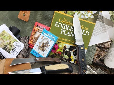 3 Knife Bushcraft Box from BattlBox: Mission 44 - Mora, Wazoo Survival Gear, Wild Edible Plants