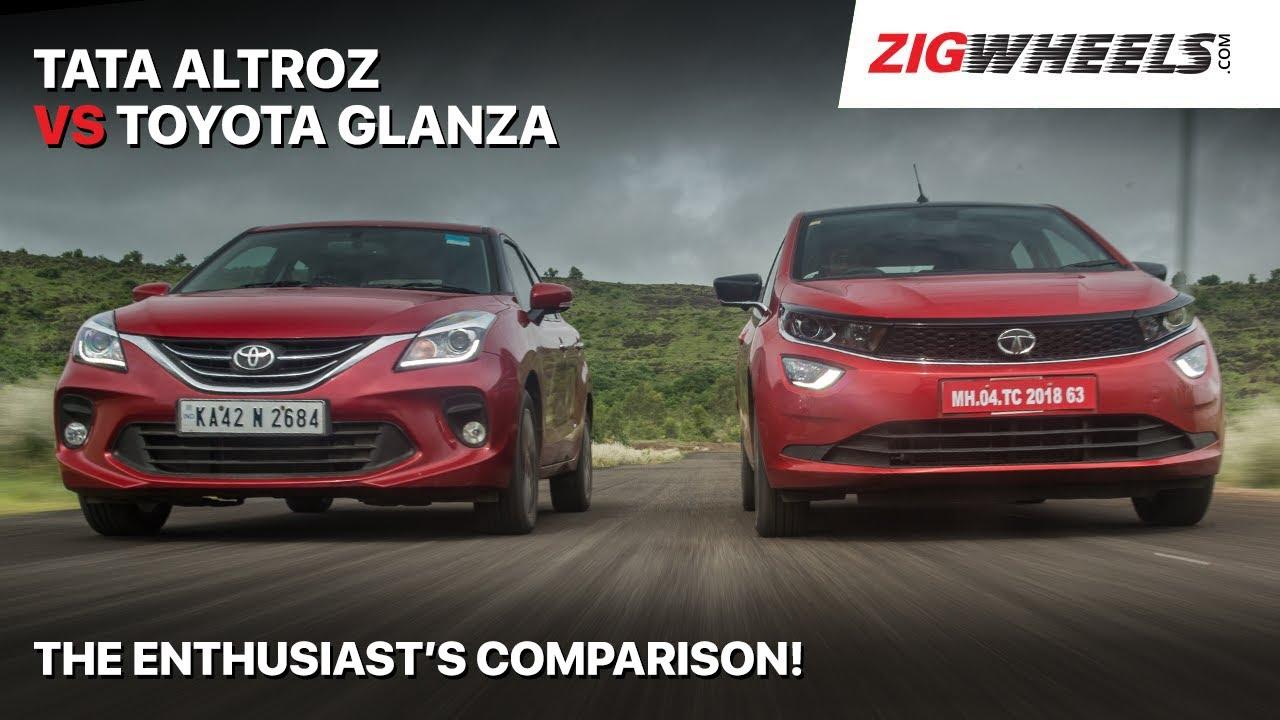 🚗 Tata Altroz vs 🚗 Toyota Glanza | Normal Cars; Oddball Comparo | ZigWheels.com