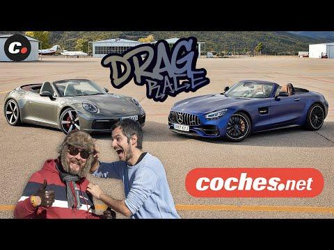 DRAG RACE Mercedes-AMG GT C Roadster vs Porsche 911 4S Cabrio | coches.net