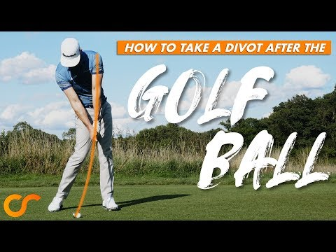HOW TO TAKE A DIVOT AFTER THE GOLF BALL