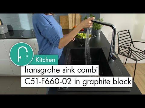 hansgrohe sink combi C51 F660 02 in graphite black